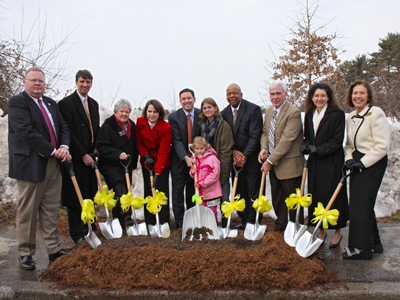 ground breaking ceremony for new charles e miller branch