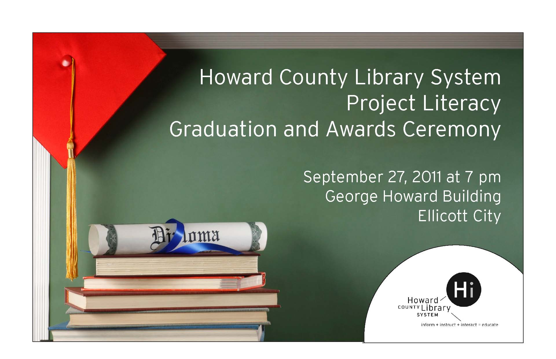 HCLS Project Literacy Graduation and Awards Ceremony Invitation